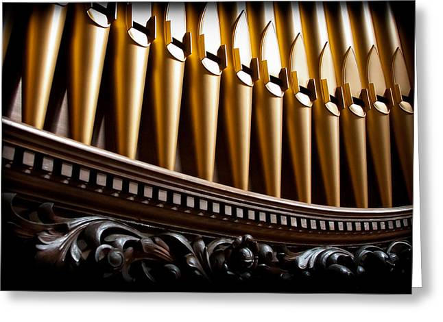 Golden Organ Pipes Greeting Card