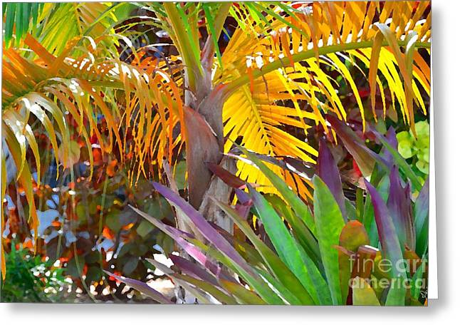 Greeting Card featuring the photograph Golden Palm 2 by Darla Wood
