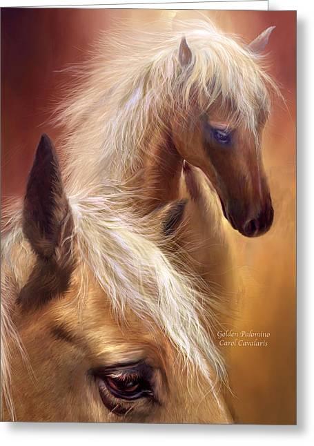 Golden Palomino Greeting Card by Carol Cavalaris