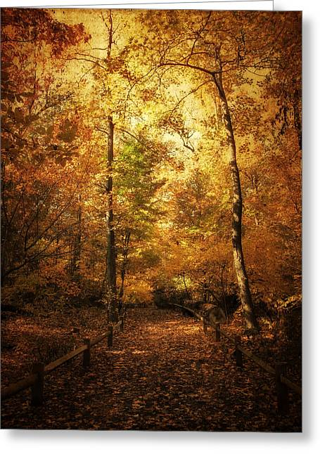 Golden Path Greeting Card by Jessica Jenney