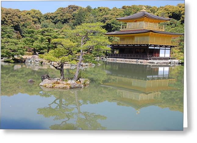 Golden Pavilion Greeting Card