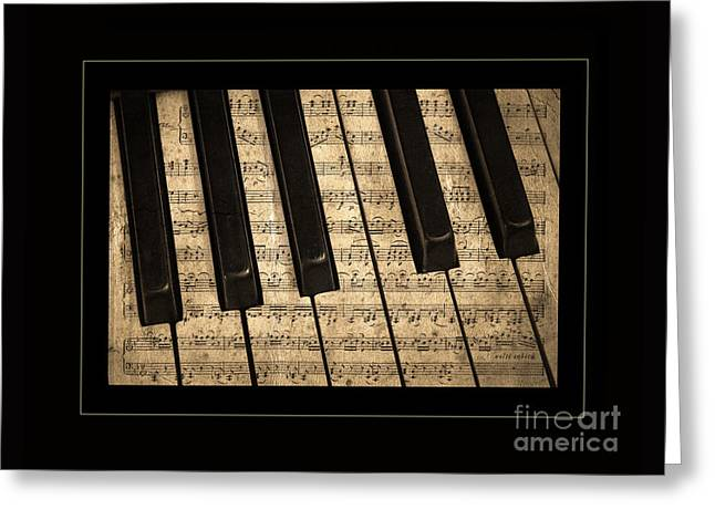Golden Pianoforte Classic Greeting Card by John Stephens