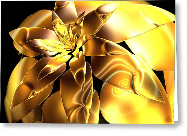 Golden Pineapple By Jammer Greeting Card
