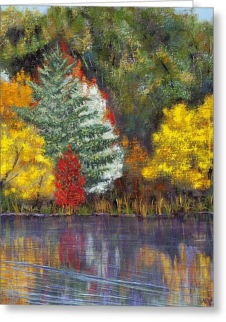 Greeting Card featuring the painting Autumn Tapestry by Margaret Bobb