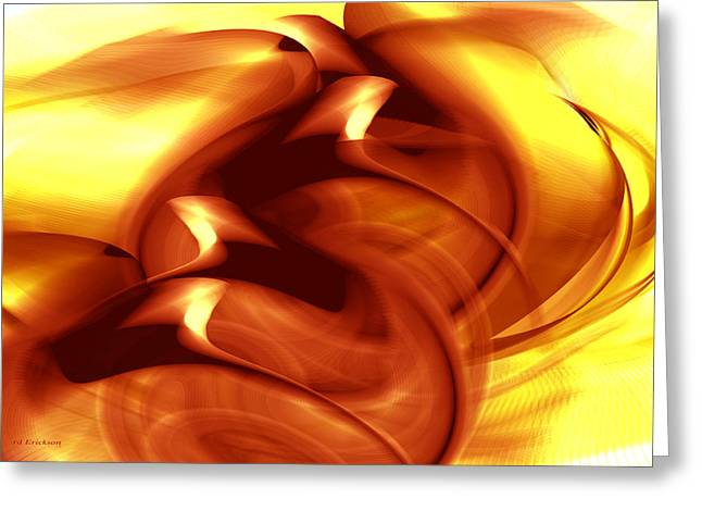 Golden Quail - Abstract Greeting Card