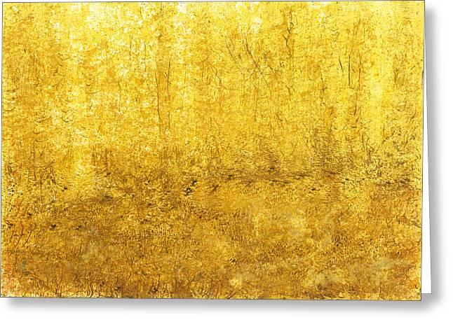 Golden Quiet Presence Greeting Card