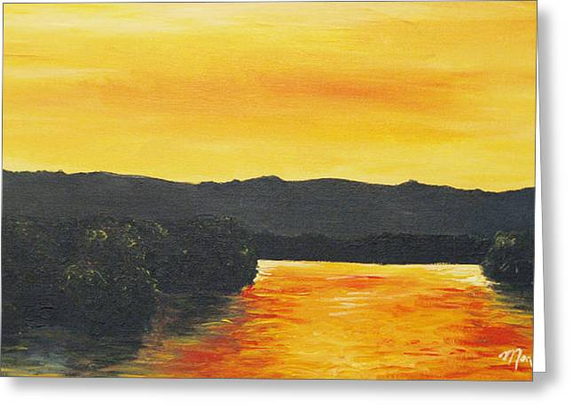 Golden Reflections Greeting Card by Monica Veraguth