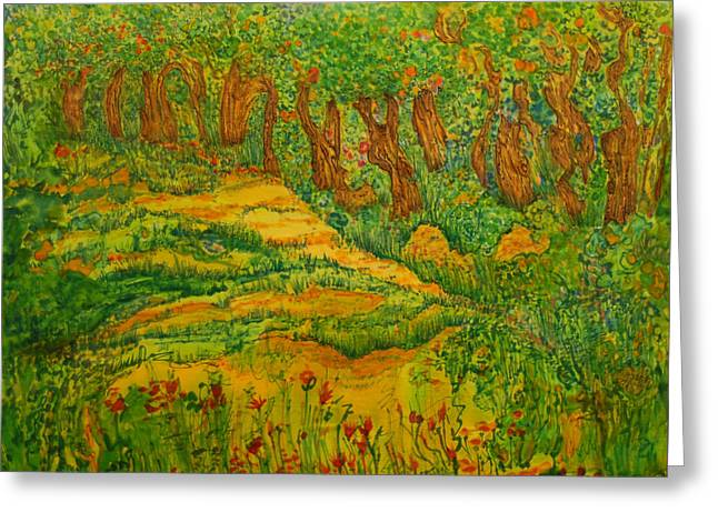 Greeting Card featuring the painting Everyday-a New Beginning by Susan D Moody