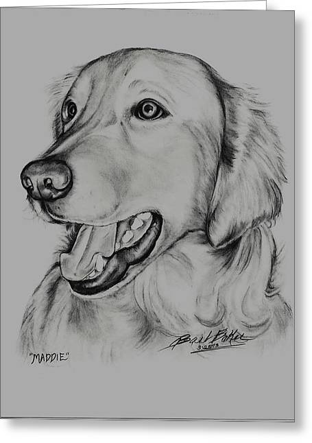 'golden Retreiver' Greeting Card by Barb Baker