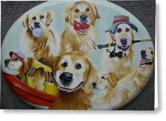 Golden  Retriever Collage Greeting Card