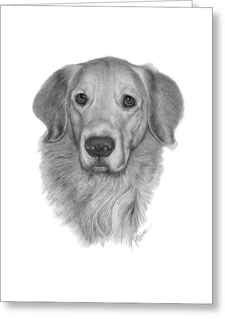 Golden Retriever Greeting Card by Joe Olivares