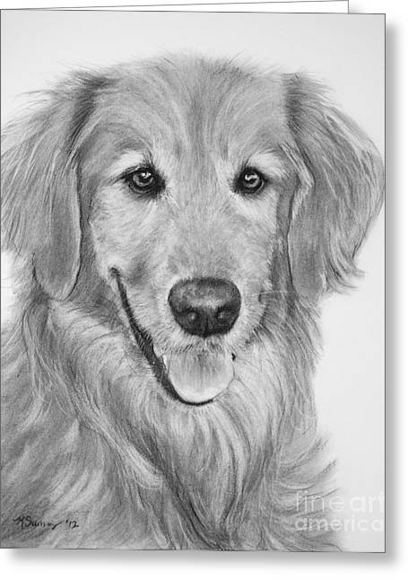 Golden Retriever Sketch Greeting Card