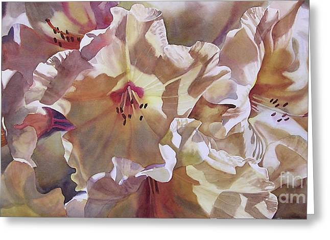 Golden Rhododendronfull Greeting Card by Sharon Freeman