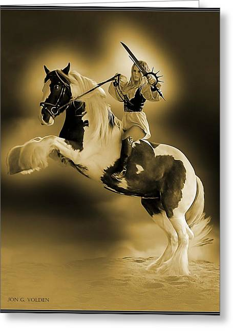 Golden Rider Greeting Card