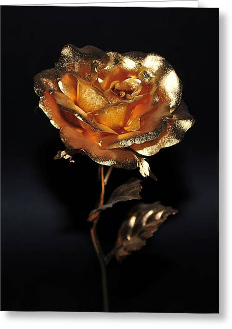 Golden Rose Greeting Card