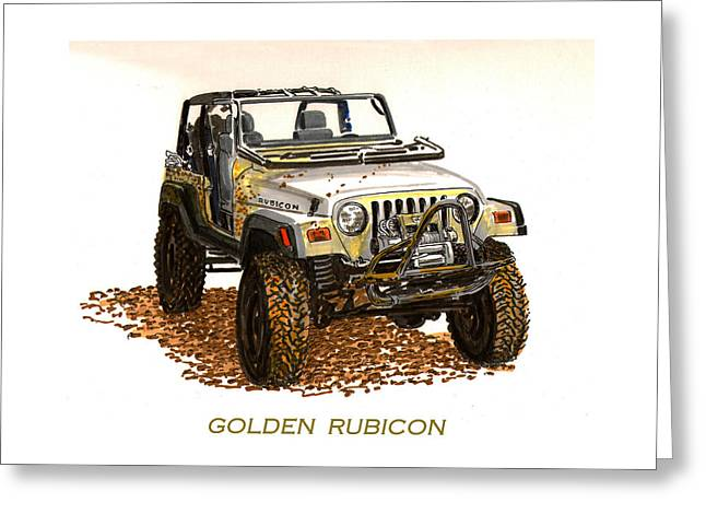 Golden Rubicon 2005 Greeting Card by Jack Pumphrey