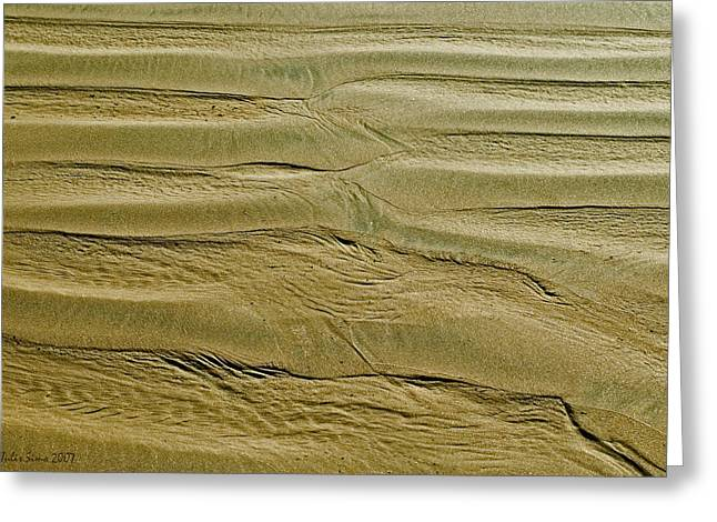 Golden Sand 5 Greeting Card