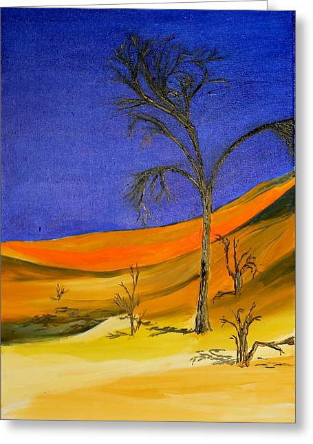 Golden Sand Dune Left Panel Greeting Card
