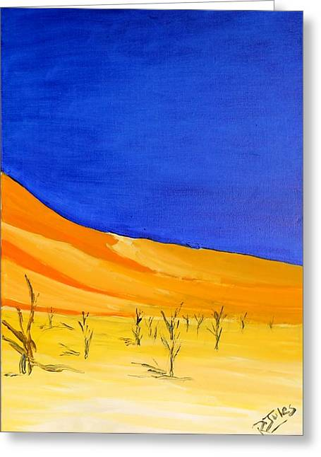 Golden Sand Dune Right Panel Greeting Card