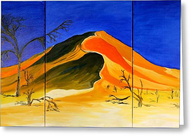 Golden Sand Dune_triptych Greeting Card