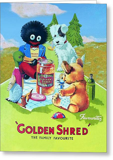 Golden Shred Greeting Card