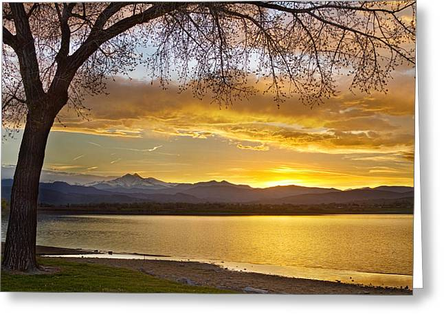 Golden Spring Time Twin Peaks Sunset View Greeting Card by James BO  Insogna