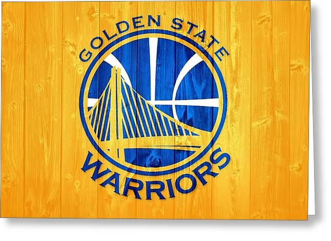 Golden State Warriors Barn Door Greeting Card by Dan Sproul