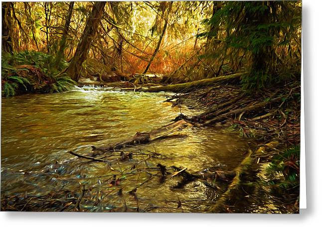 Golden Stream Greeting Card