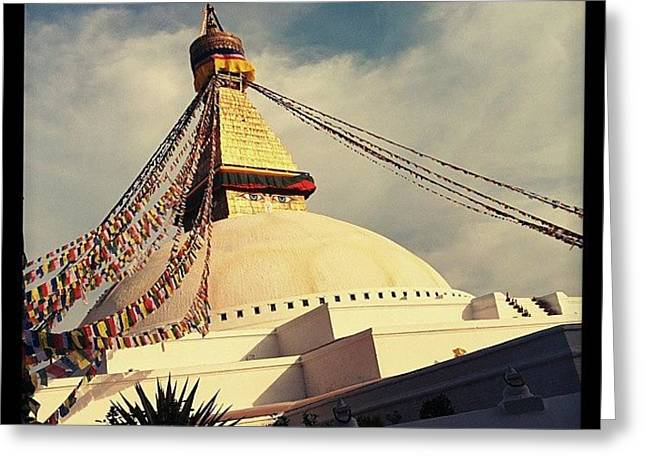 Golden Stupa Greeting Card