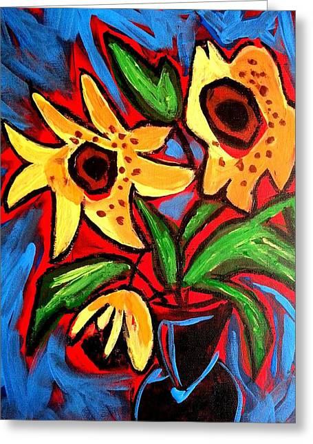 Golden Sunflowers Greeting Card