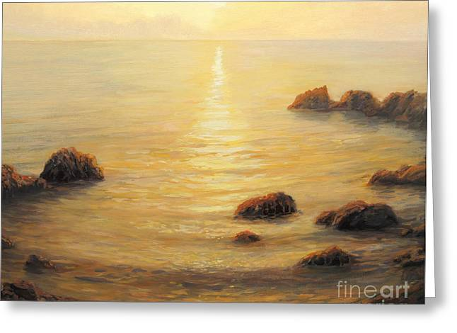 Golden Sunrise Greeting Card by Kiril Stanchev