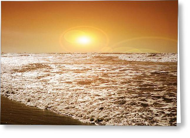 Greeting Card featuring the photograph Golden Sunset by Aaron Berg