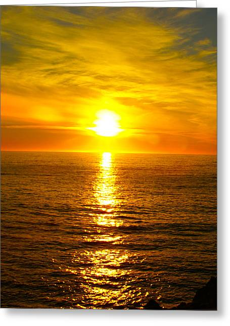 Golden Sunset Pismo Beach 2 Greeting Card