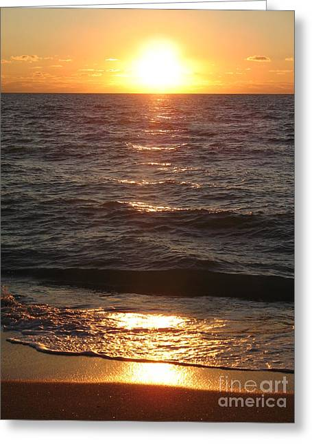 Golden Sunset At Destin Beach Greeting Card by Christiane Schulze Art And Photography