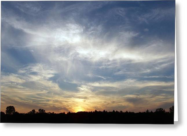 Greeting Card featuring the photograph Golden Sunset by Teresa Schomig