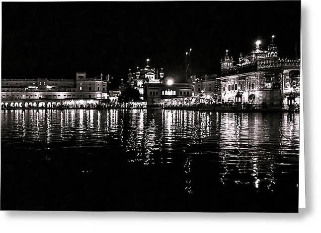 Golden Temple Greeting Card by Gautam Gupta