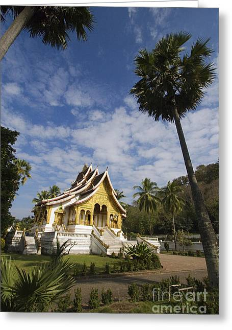 Golden Temple Luang Probang Loas Greeting Card by Craig Lovell