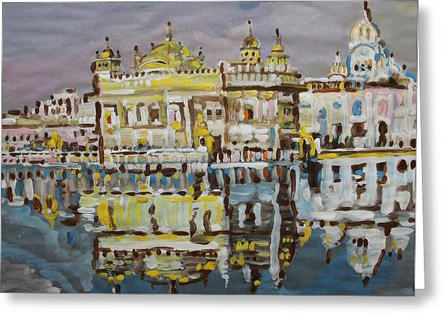 Golden Temple  Greeting Card by Vikram Singh