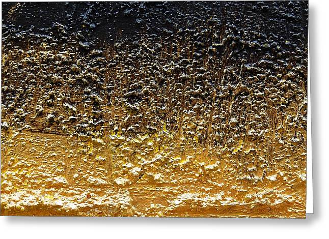 Golden Time - Abstract Greeting Card by Ismeta Gruenwald