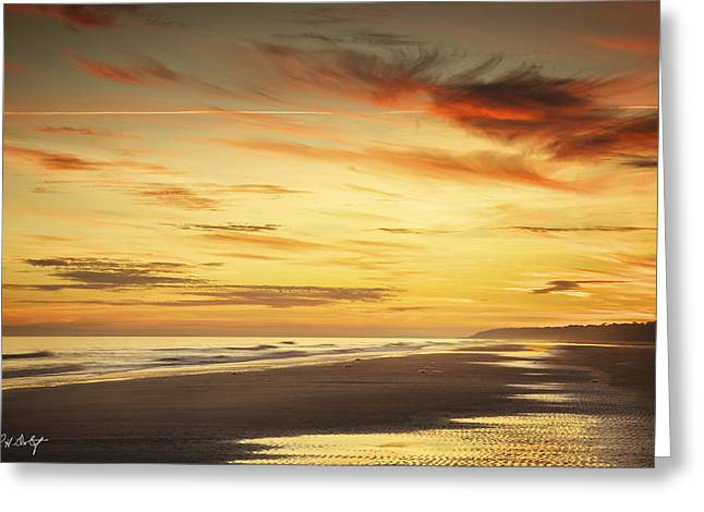 Golden Tones Greeting Card by Phill Doherty