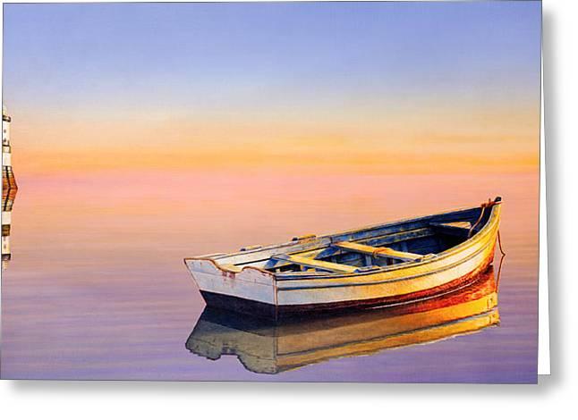 Golden Twilight Greeting Card by Horacio Cardozo