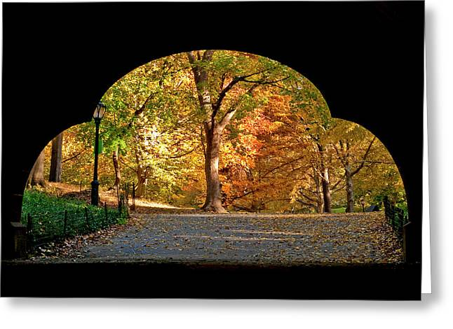 Golden Underpass Greeting Card