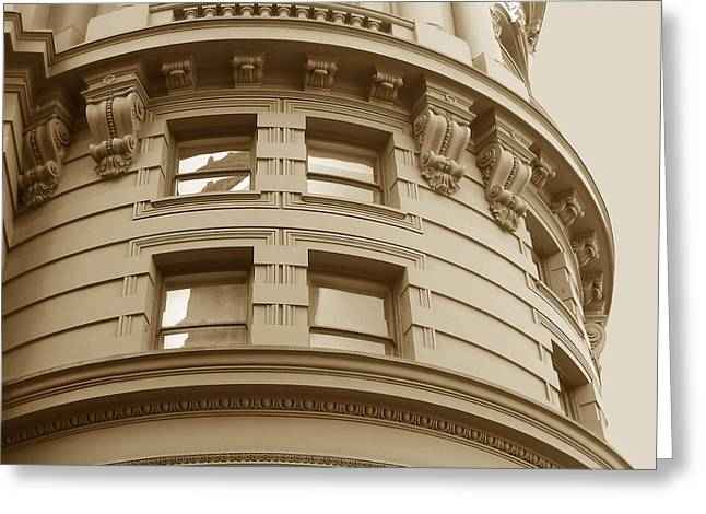 Greeting Card featuring the photograph Golden Vintage Building by Connie Fox
