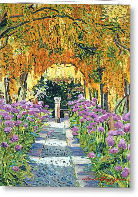 Golden Walk Greeting Card by David Lloyd Glover