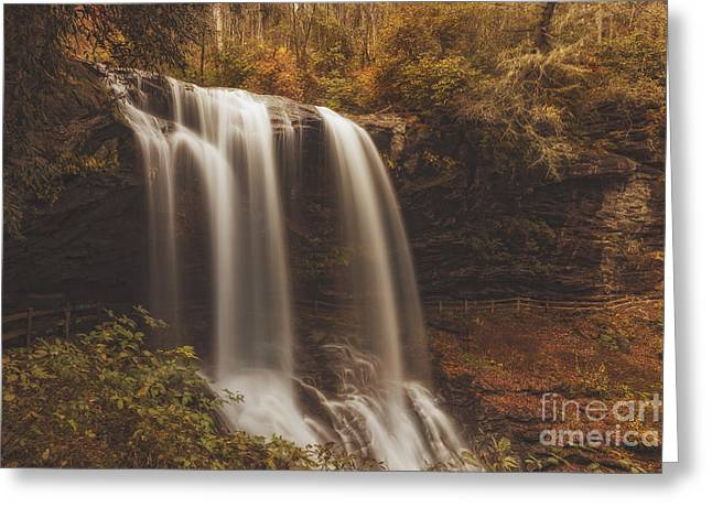 Golden Waterfall Greeting Card