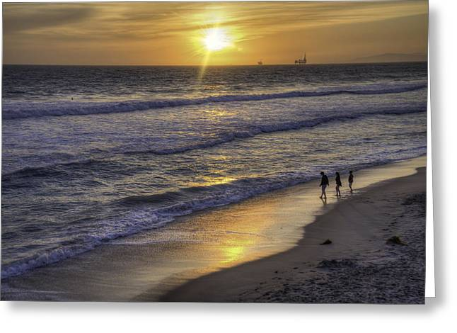 Golden West Sunset Greeting Card by Spencer McDonald