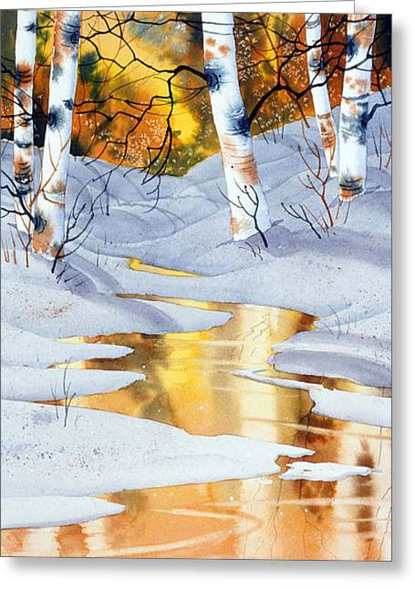 Golden Winter Greeting Card