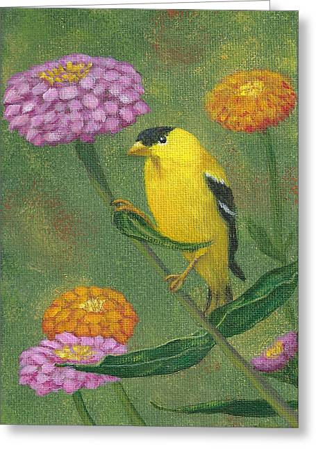 Goldfinch Garden Greeting Card