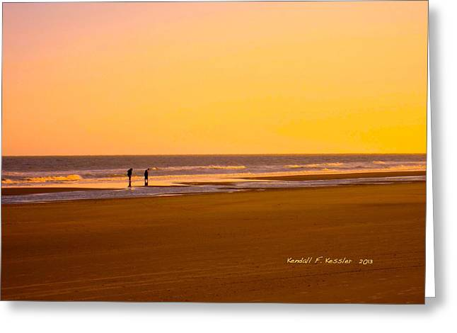 Goldlen Shore At Isle Of Palms Greeting Card by Kendall Kessler