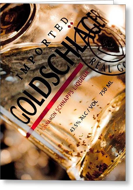 Goldschlager Greeting Card by Mamie Thornbrue